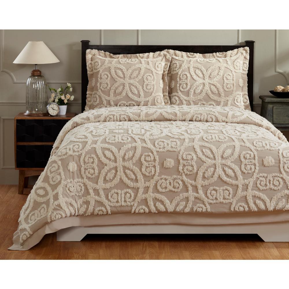 Better Trends Eden Linen/Ivory Full/Queen Comforter SS-QUEDQFLIIV