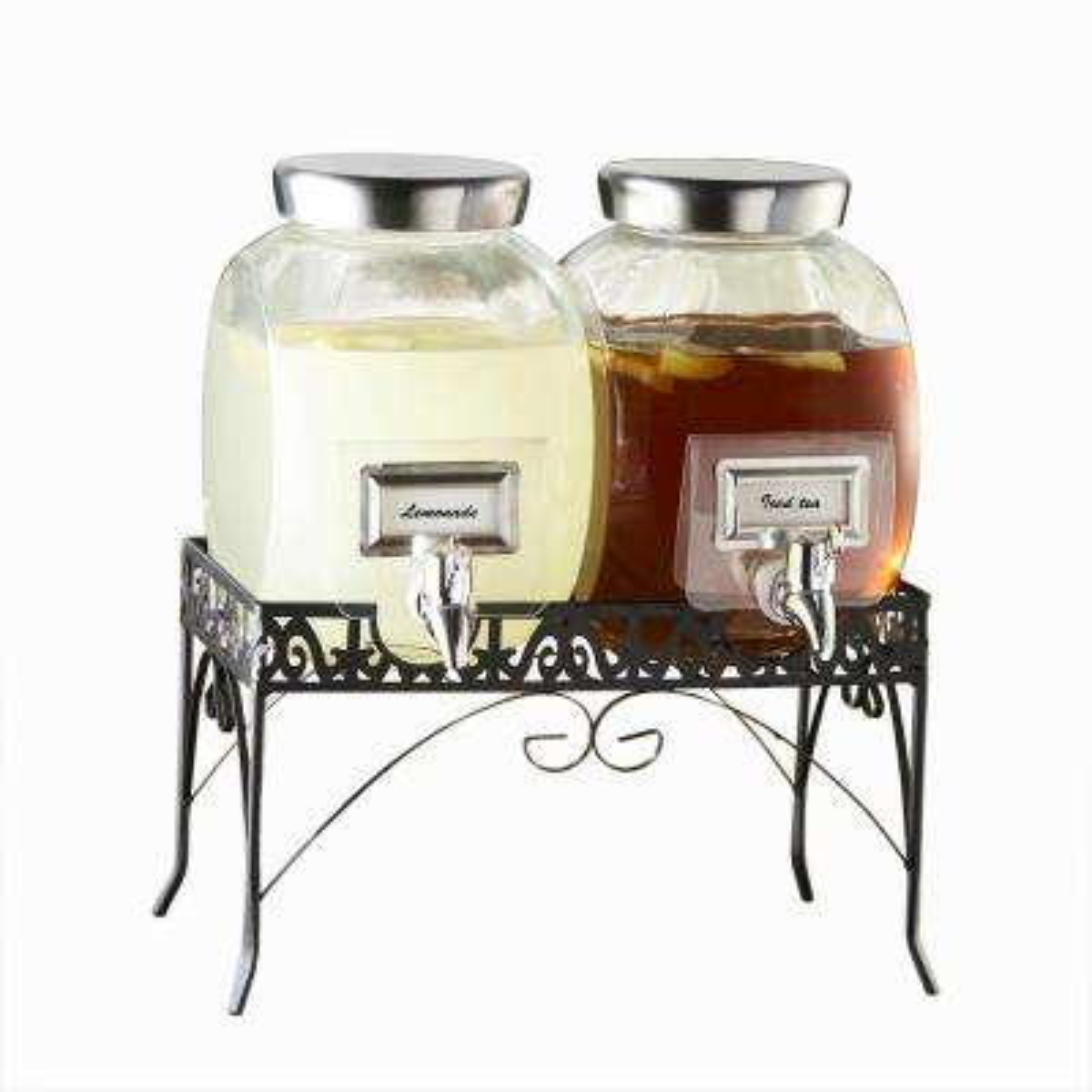 Williamsburg Glass Dispenser Set with Rack