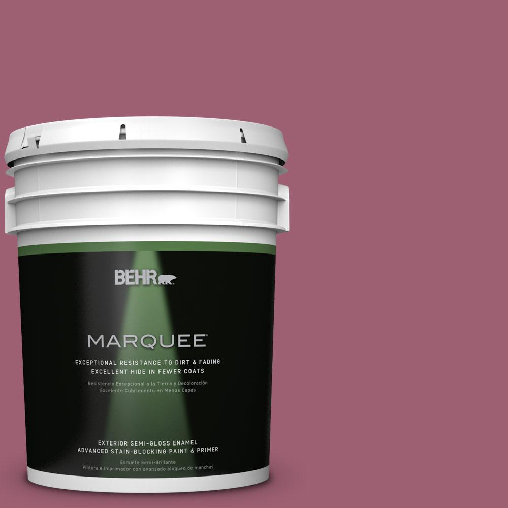 BEHR MARQUEE 5-gal. #M130-6 Tropical Hibiscus Semi-Gloss Enamel Exterior Paint
