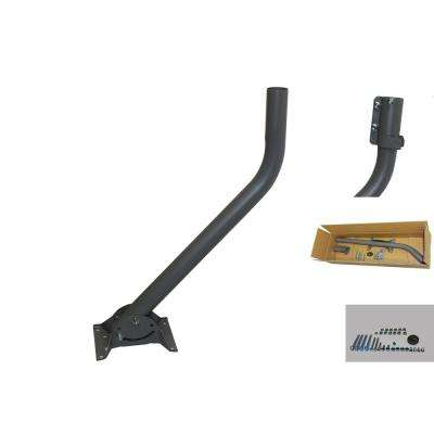 26 in. Deluxe J-Pipe for ANT DISH with Wall Mount Bracket