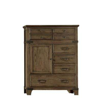 Baltimore 6-Drawer Vintage Brown High Chest