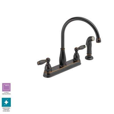 Bronze 4 Hole Kitchen Faucets Kitchen The Home Depot