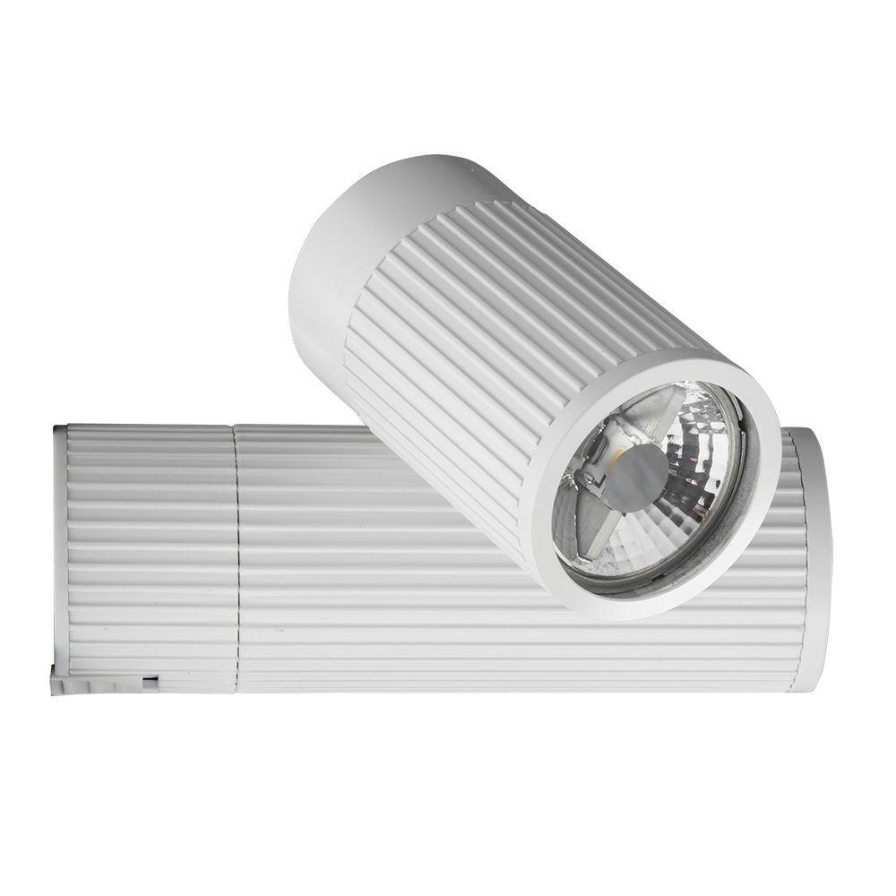 White Pendant Track Lighting: Lithonia Lighting 1-Light White Front Loading Commercial
