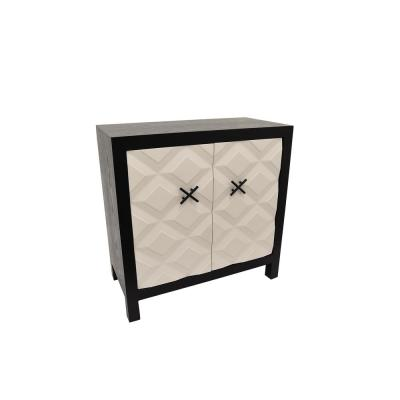 White Wood Cabinet with 2-Doors