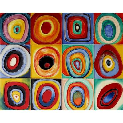 Kandinsky (Color Study of Squares) 11 x 14 Wall Accent Tile