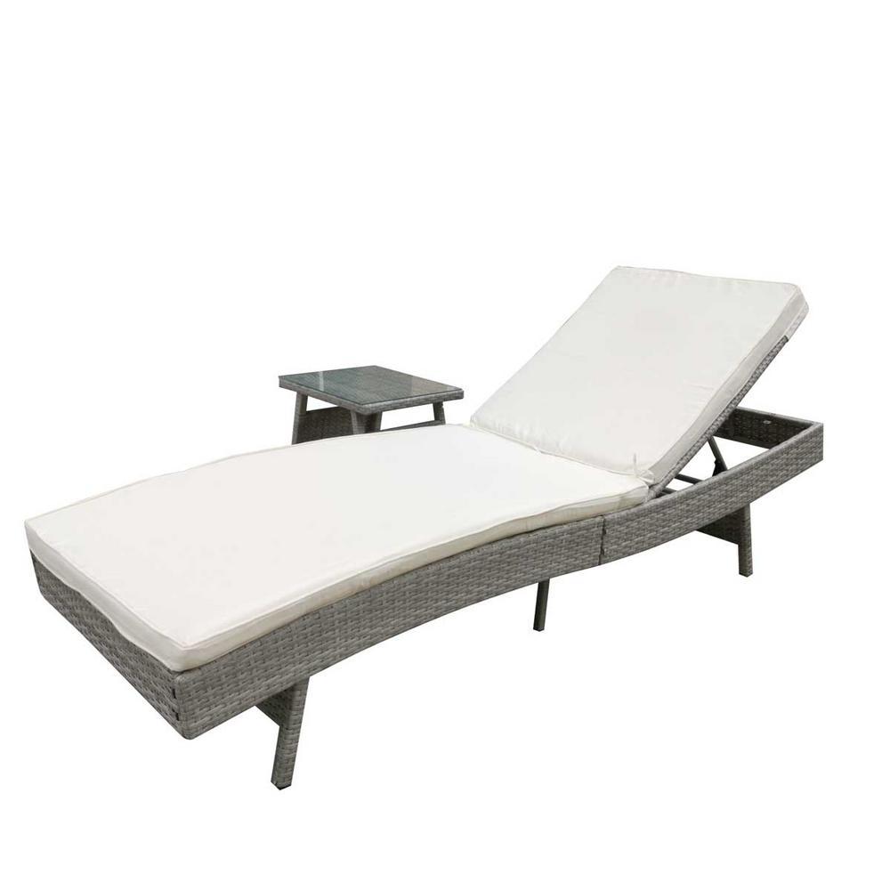 Costway Black Rattan Wicker Outdoor Patio Recliner Chair ...