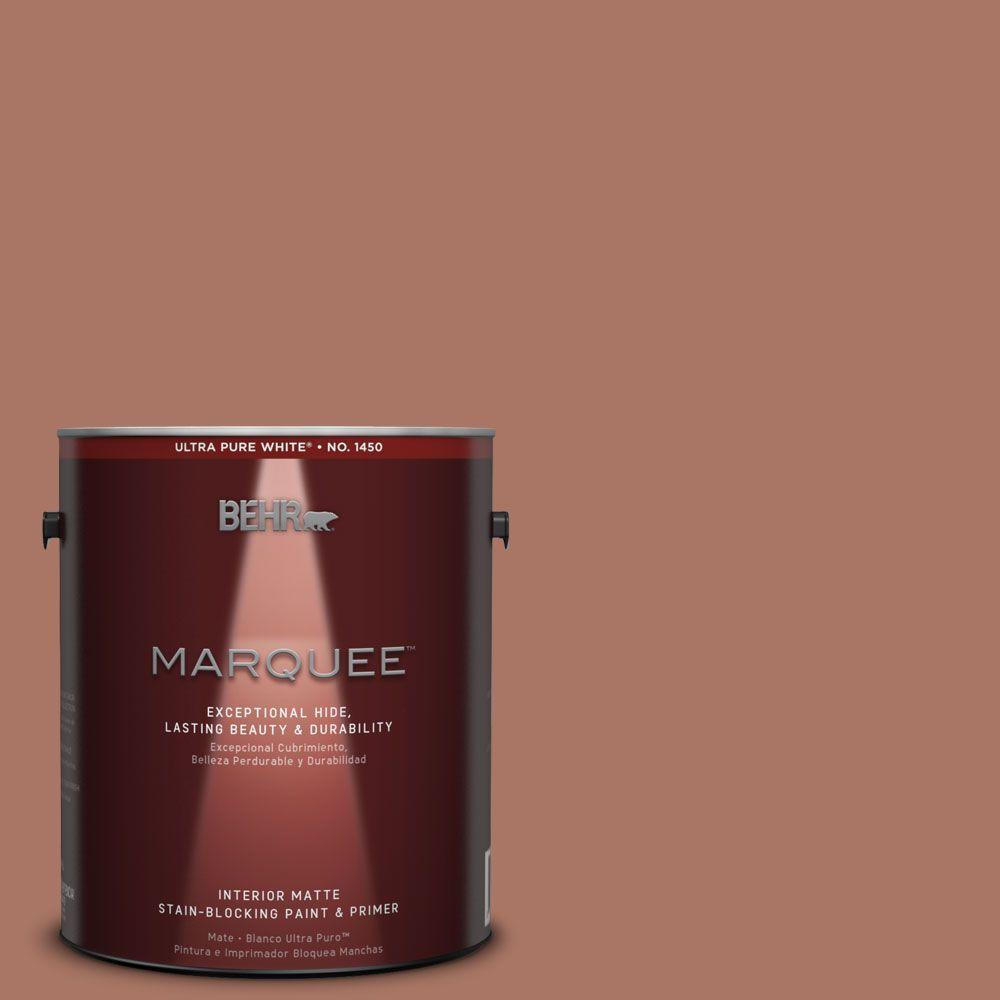 BEHR MARQUEE 1 gal. #MQ1-60 Sienna One-Coat Hide Matte Interior Paint