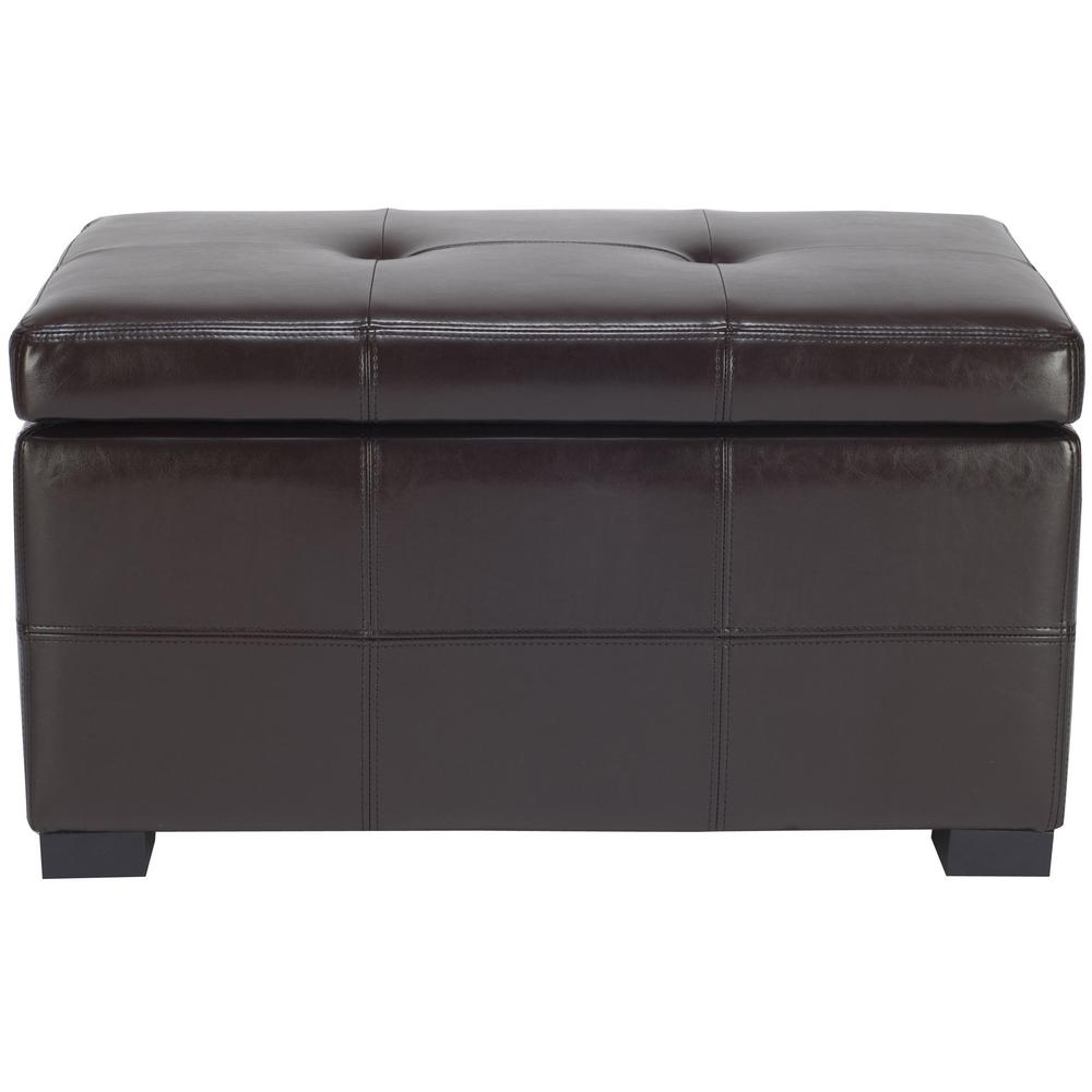 Safavieh Kerrie Brown Storage Bench  sc 1 st  Nextag & Padded storage bench seat | Compare Prices at Nextag