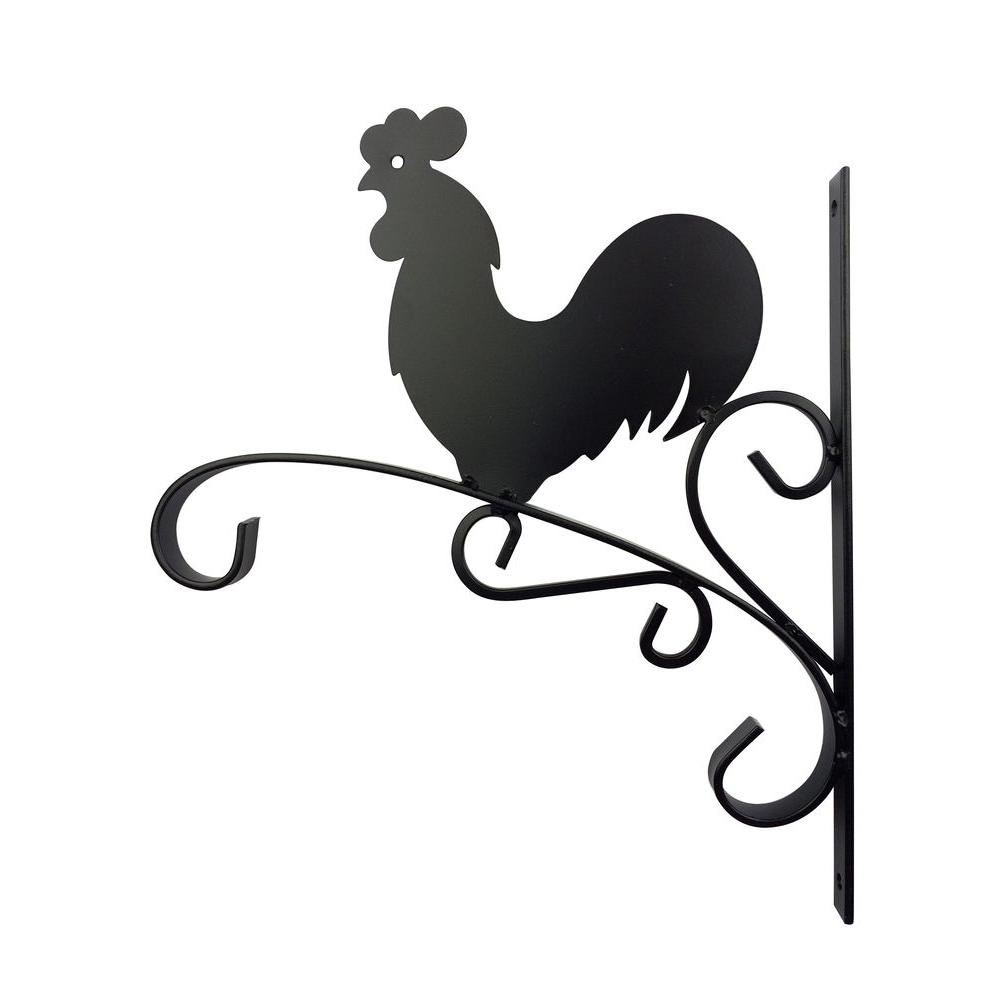 Worth Garden 12 In Metal Rooster Plant Bracket 3006 The Home Depot