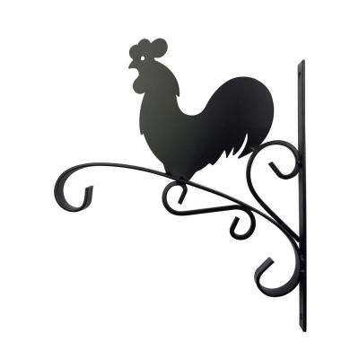 12 in. Metal Rooster Plant Bracket