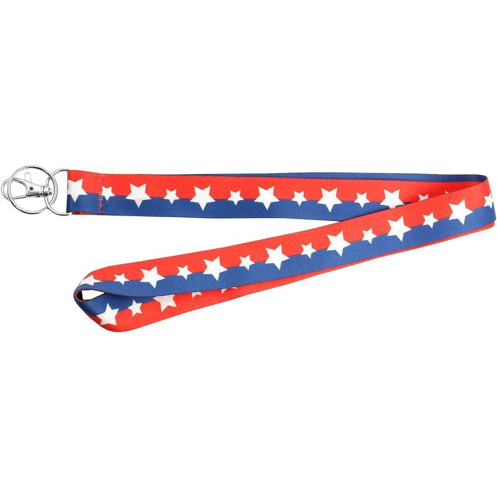 Lanyard Red White And Blue With Stars