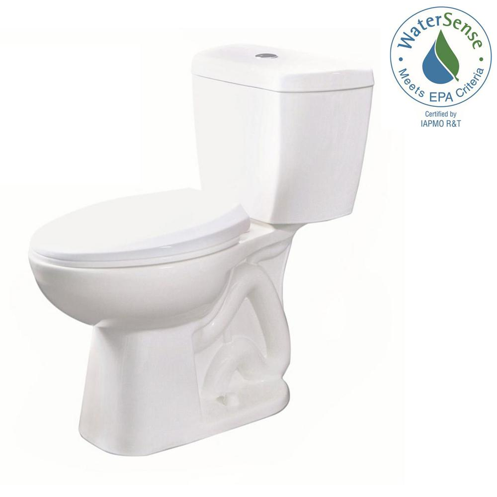 Niagara 2-piece 0.8 GPF Ultra-High-Efficiency Single Flush Elongated Toilet Featuring Stealth Technology in White