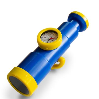 Blue and Yellow Toy with Working Compass Telescope