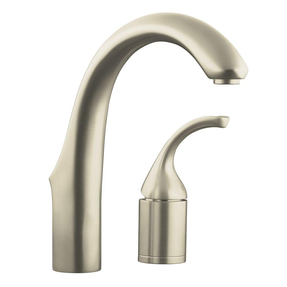 KOHLER Forte Single Handle Bar Faucet in Vibrant Brushed Nickel-K ...