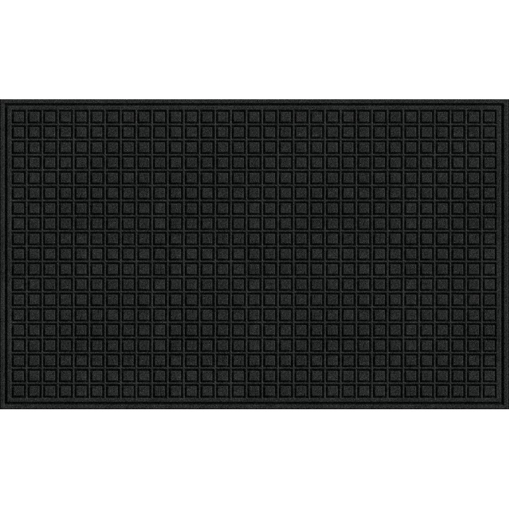 TrafficMASTER Black 36 in. x 60 in. Synthetic Fiber and Recycled Rubber Commercial Door Mat