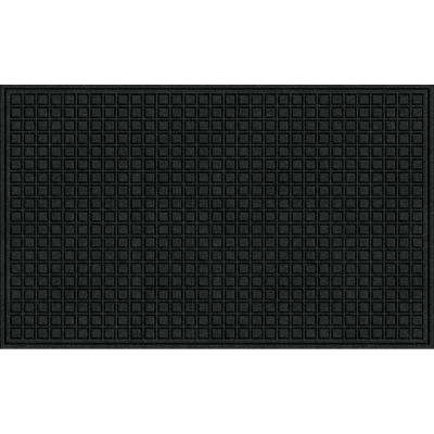 Black 36 in. x 60 in. Synthetic Fiber and Recycled Rubber Commercial Door Mat