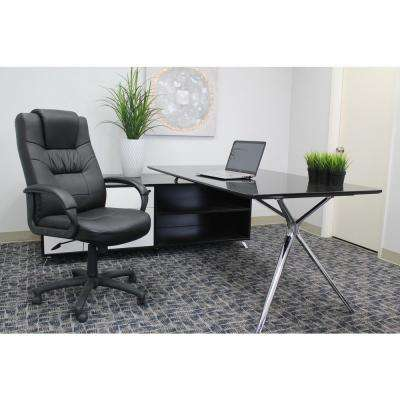 Black Leatherplus Executive Chair
