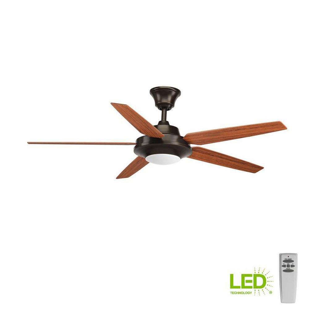 rustic ceiling fan light kit outdoor progress lighting signature plus ii collection 54 in led indoor antique bronze rustic ceiling fan