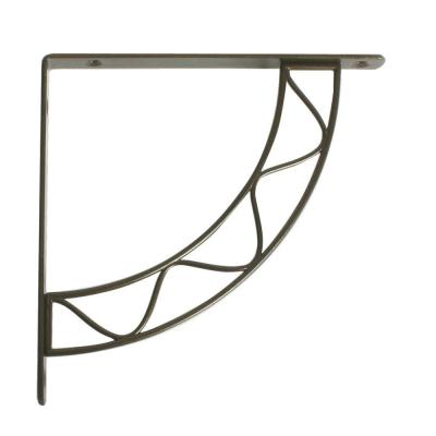 Stockton 7.75 in. L x 0.75 in. W Antique Bronze 100 lb. Decorative Shelf Bracket