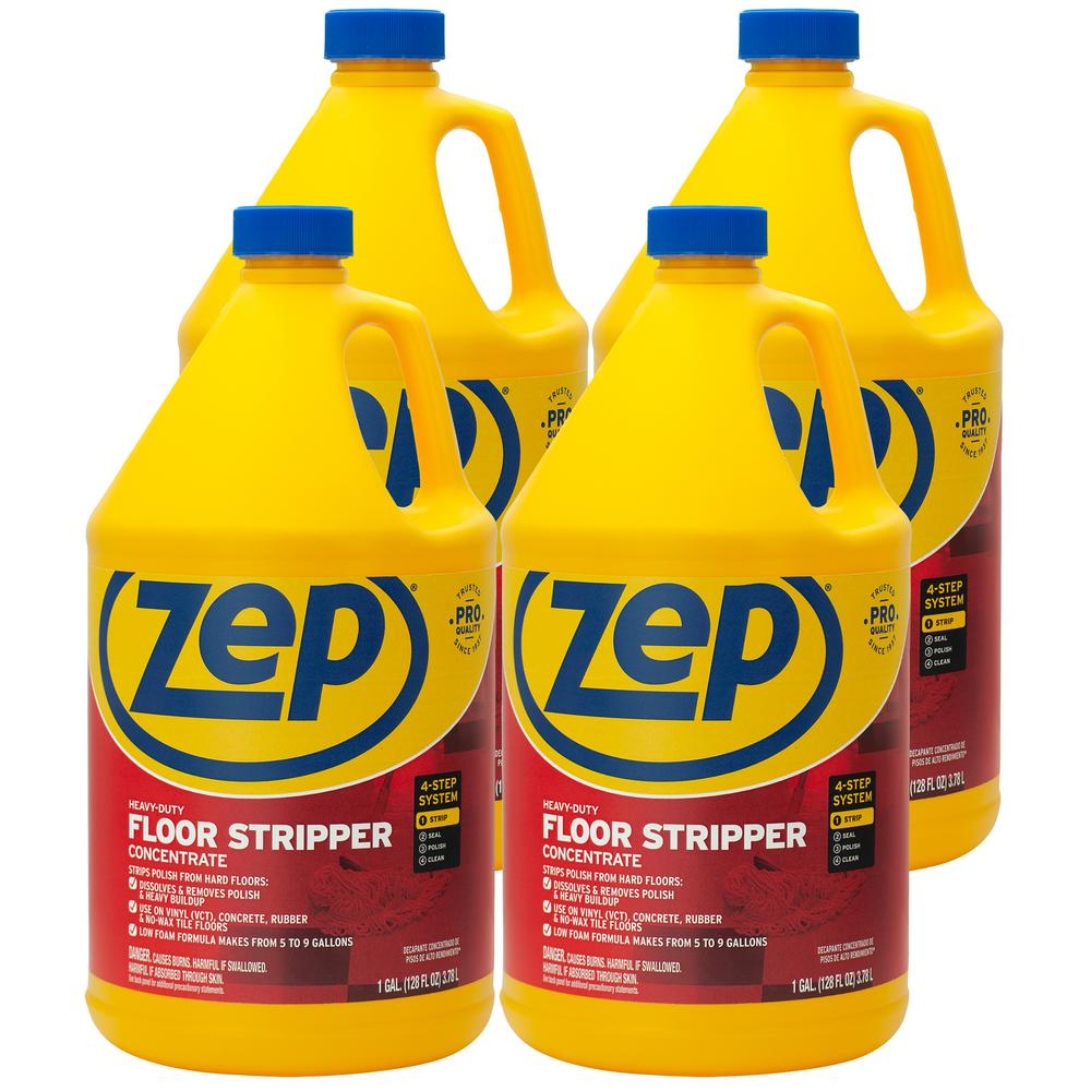 Zep 1 Gal Heavy Duty Floor Stripper Case Of 4 Zulffs128