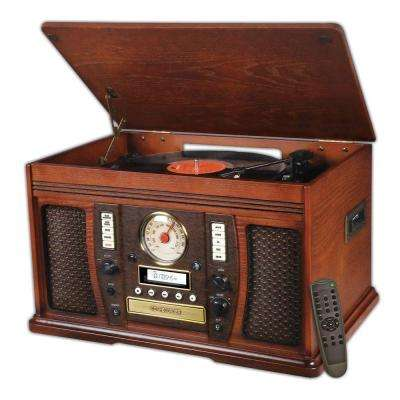 Aviator 7-in-1 Bluetooth Wooden Music Center