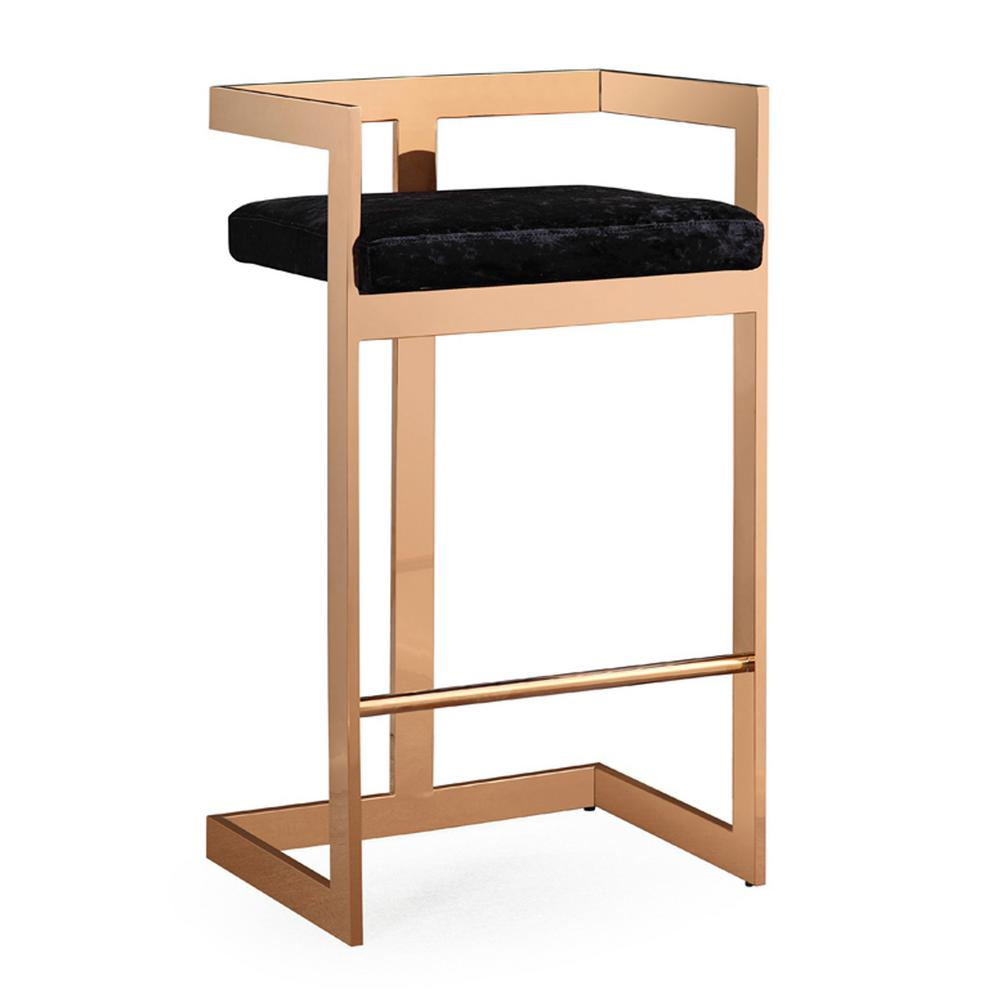Tov Furniture 30 1 In Marquee Black Velvet Bar Stool Tov