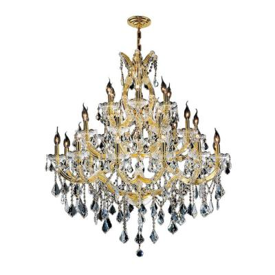 Maria Theresa 28-Light Polished Gold and Clear Crystal Chandelier