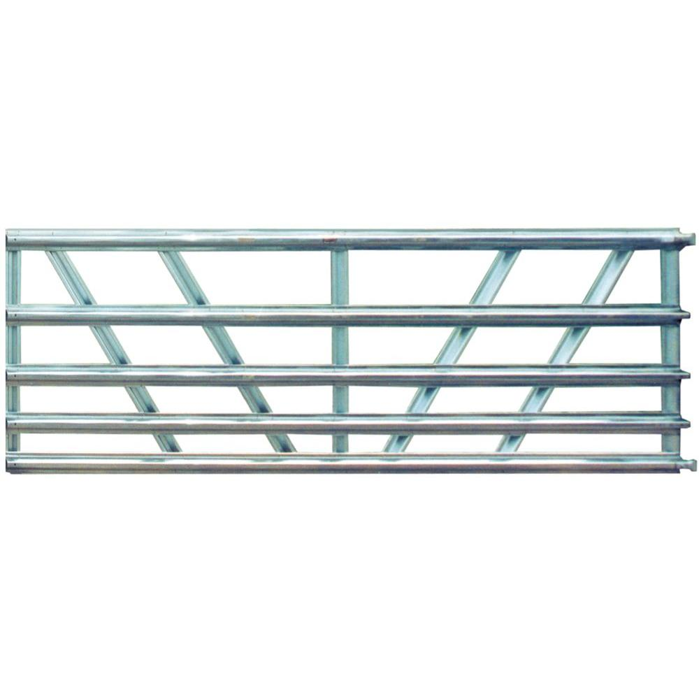 Utility 16 ft. 5-Panel Galvanized Gate