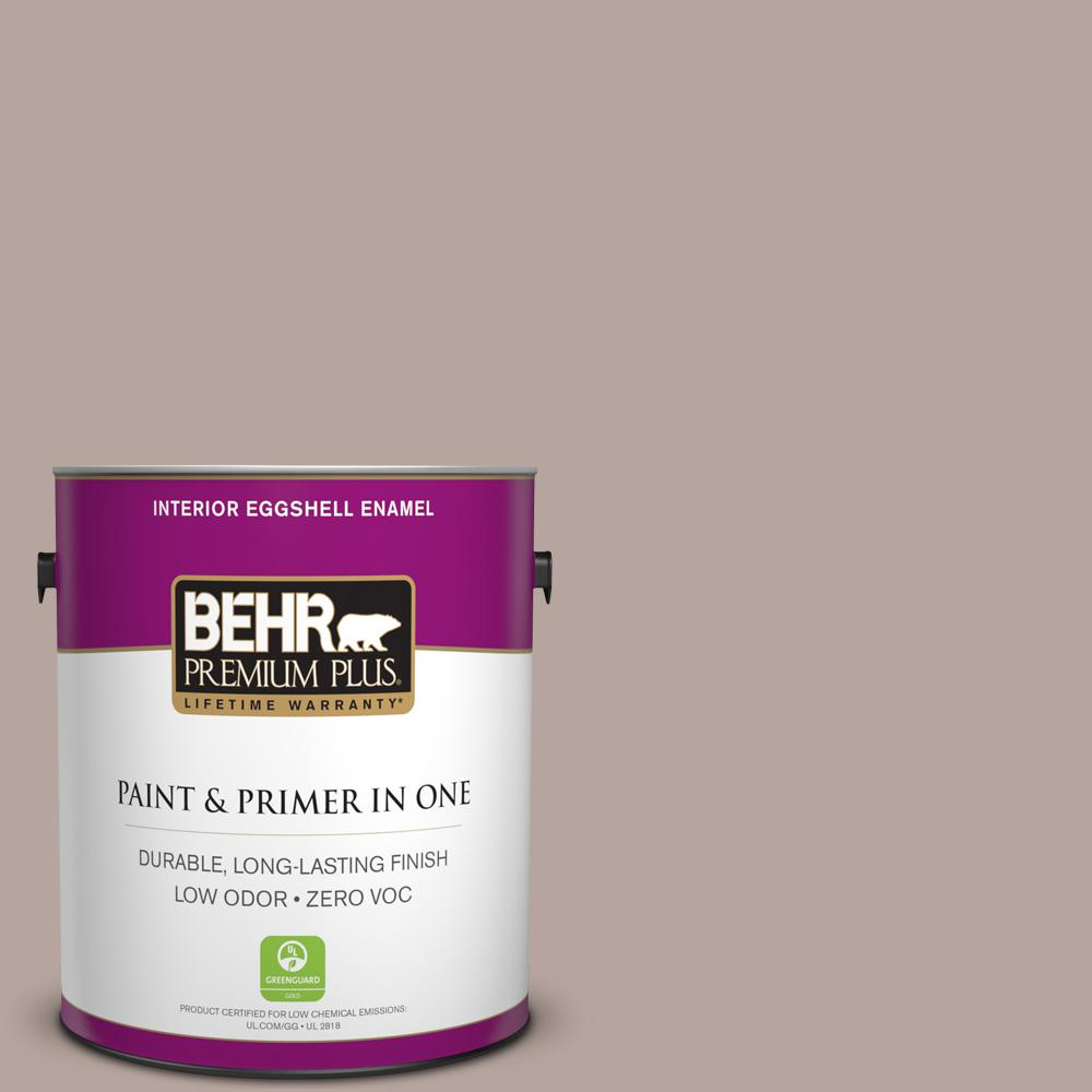 1 gal. #BNC-12 Mauvelous Eggshell Enamel Zero VOC Interior Paint and