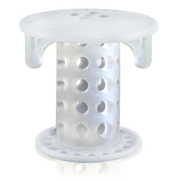 Tubshroom 1 In 1 25 In Bathroom Sink Drain Protector Hair Catcher In Clear Sscle988 The Home Depot