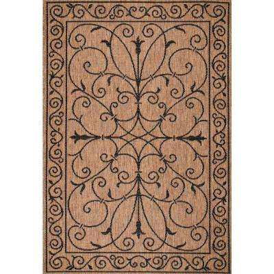 Kathleen Krem Brown 8 ft. x 11 ft. Indoor/Outdoor Area Rug