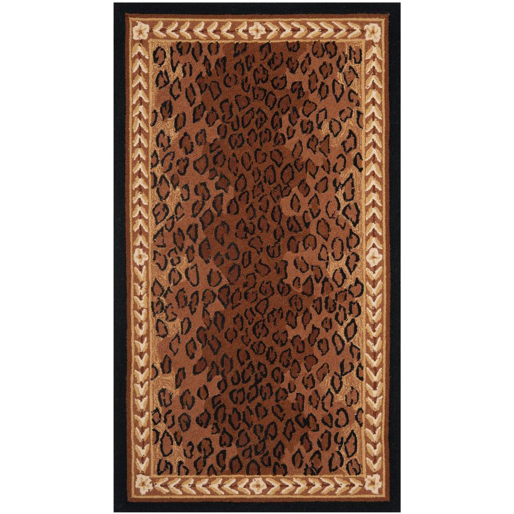 safavieh chelsea black brown 2 ft 6 in x 4 ft area rug. Black Bedroom Furniture Sets. Home Design Ideas