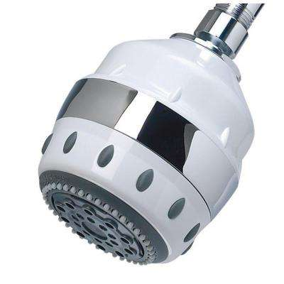 5-Spray Filtered Showerhead in White