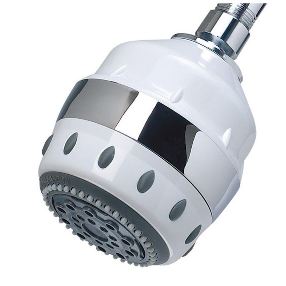 5-Spray Filtered Showerhead in White