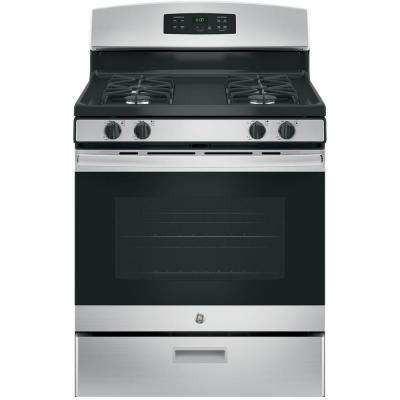 30 in. 4.8 cu. ft. Free-Standing Gas Range in Stainless Steel