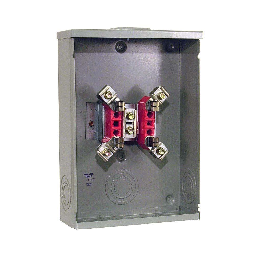 200 Amp 4-Terminal Ringtype Overhead/Underground Meter Socket