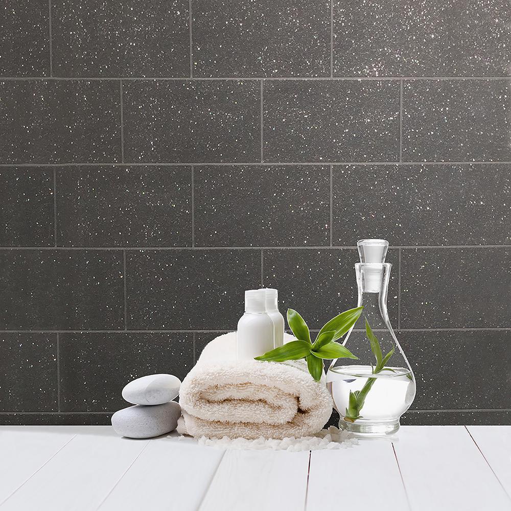 56.4 sq. ft. Joan Black Tile Wallpaper