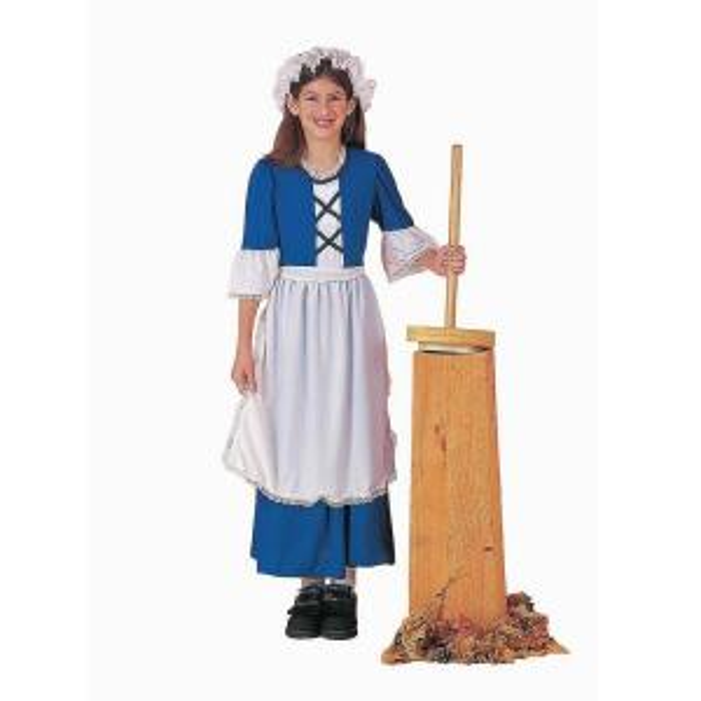Medium Girls Colonial Girl Kids Costume