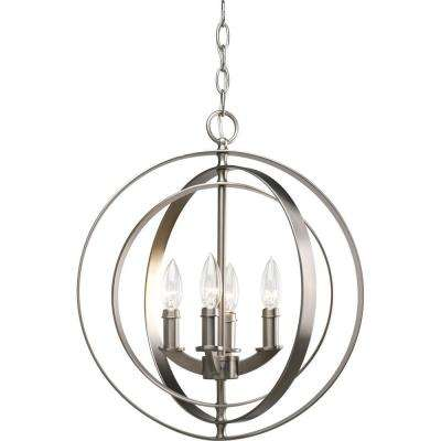 Equinox Collection 4-Light Burnished Silver Orb Pendant