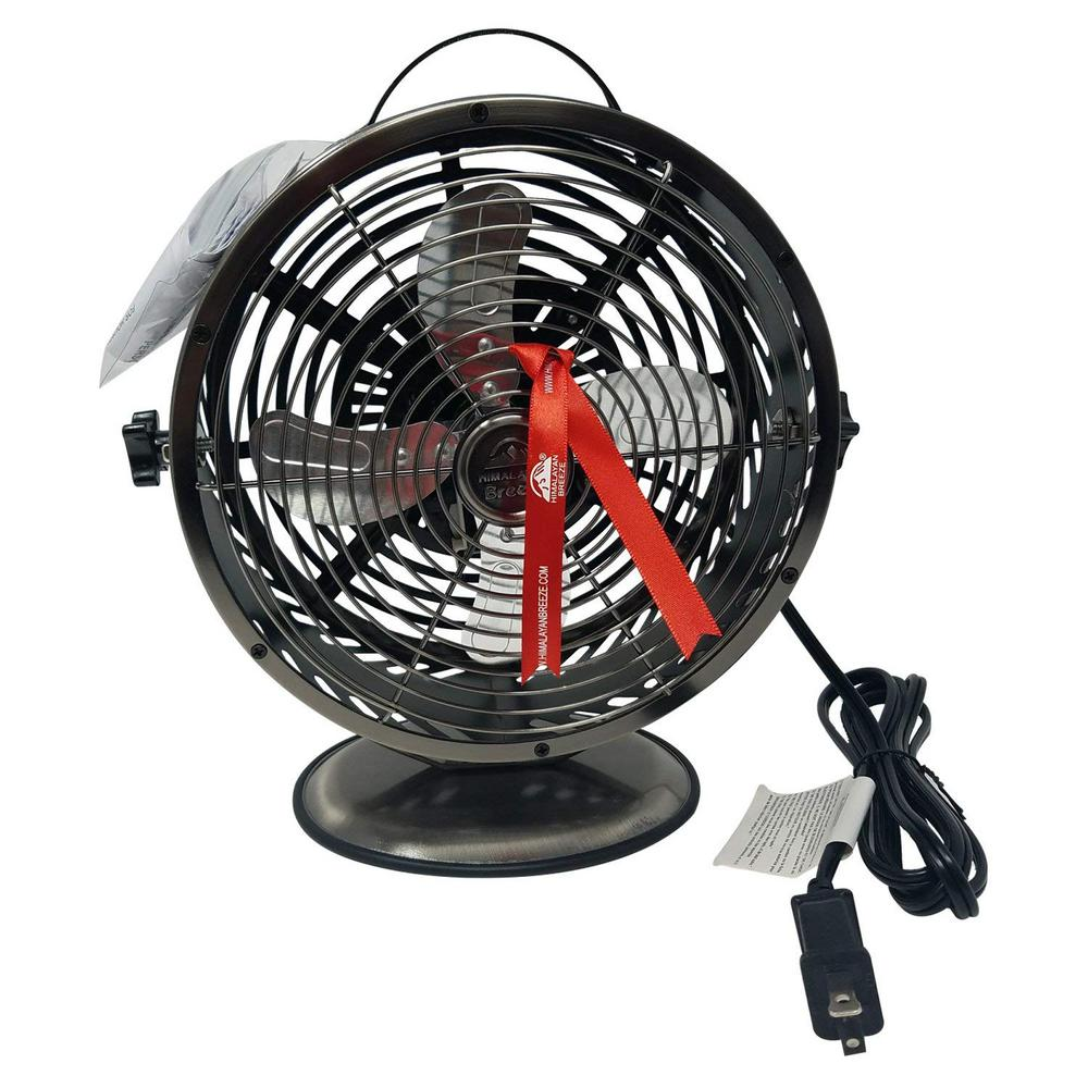 Decorative Black Chrome Table Fan