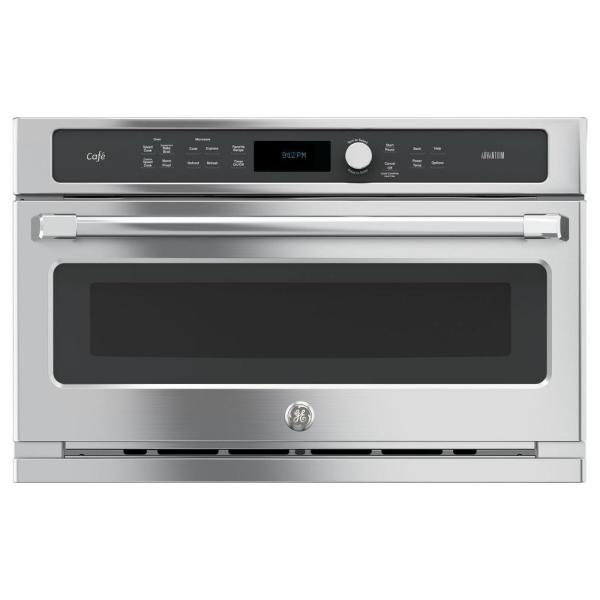 Cafe 30 in. Single Electric Wall Oven with Advantium Cooking in Stainless Steel