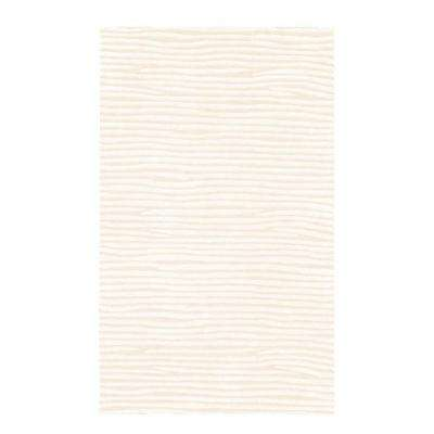 Wavy Beige 5 ft. x 8 ft. Indoor Area Rug