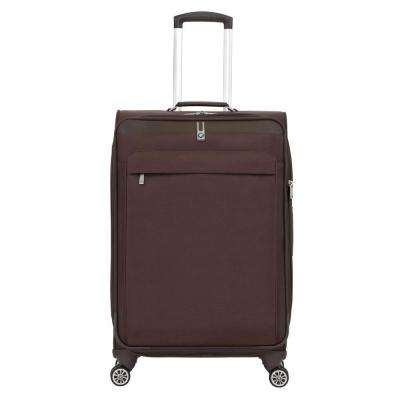 24.5 in. Brown Spinner Suitcase