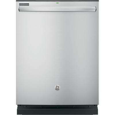 Top Control Built-In Tall Tub Dishwasher in Stainless Steel with Hybrid Stainless Steel Tub and Steam Prewash