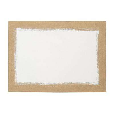 14 in. W x 20 in. L Ivory Metallic Brushstroke Placemats (Set of 4)