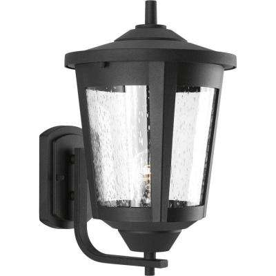 East Haven Collection 1-Light Large Black Outdoor Wall Lantern