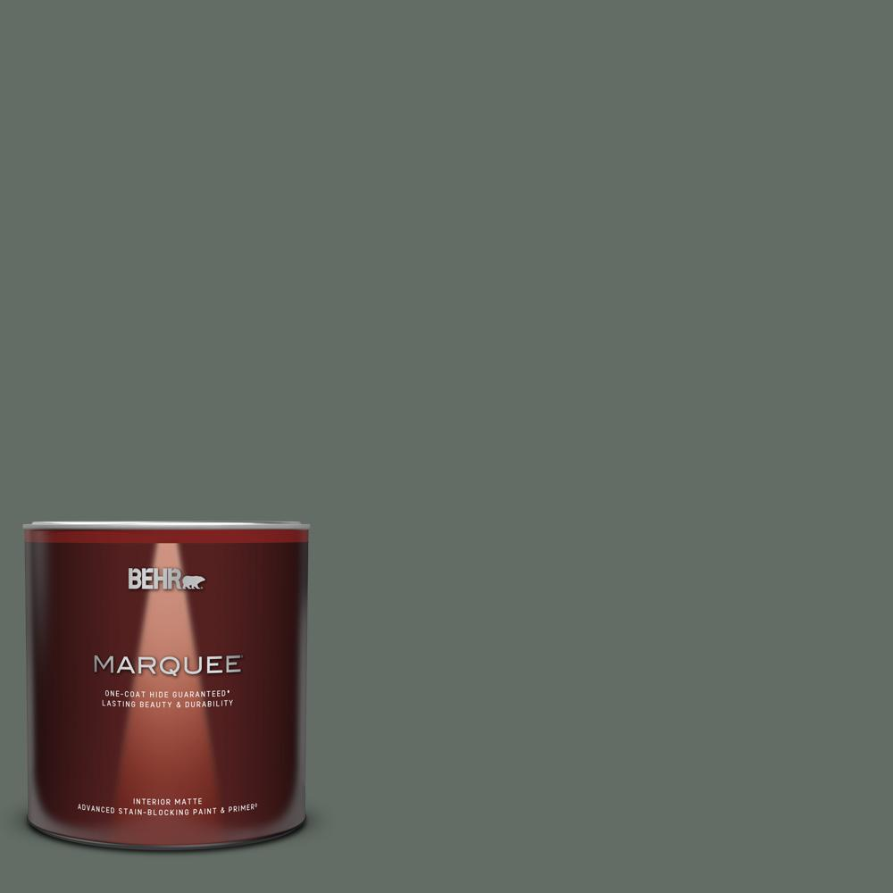 Behr Marquee 1 Qt 700f 6 Dense Shrub Matte Interior Paint And Primer In One 145304 The Home Depot