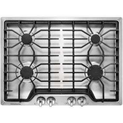 30 In Gas Cooktop Stainless Steel With 4 Burners