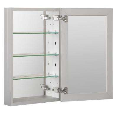 19 in. x 30 in. Recessed or Surface Frameless 1-Door Medicine Cabinet with 3-Adjustable Shelves