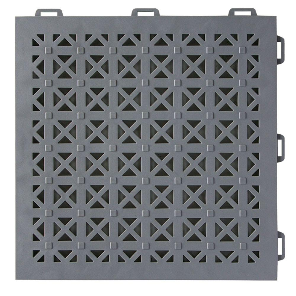 StayLock Perforated Gray 12 in. x 12 in. x 0.56 in.